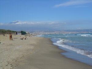 spiaggia dell playa vista dell'etna